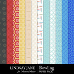 Bowling Pattern Paper Pack-$2.49 (Lindsay Jane)