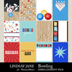 Bowling Journal Cards Pack-$2.49 (Lindsay Jane)