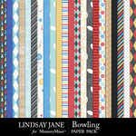 Bowling Paper Pack-$2.99 (Lindsay Jane)