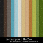 The Zoo LJ Embossed Paper Pack-$2.49 (Lindsay Jane)