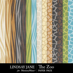 The Zoo LJ Pattern Paper Pack-$2.49 (Lindsay Jane)
