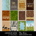 The Zoo LJ Journal Cards Pack-$2.49 (Lindsay Jane)