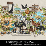 The Zoo LJ Embellishment Pack-$3.49 (Lindsay Jane)