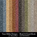 Read a Good Book Glitter Sheets Pack-$2.99 (Tami Miller)