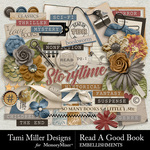 Read a Good Book Embellishment Pack-$4.99 (Tami Miller)