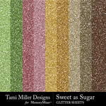 Sweet As Sugar Glitter Sheets Pack-$2.99 (Tami Miller)