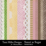 Sweet As Sugar Paper Pack-$4.99 (Tami Miller)
