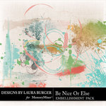 Be Nice or Else Brushes Pack-$4.99 (Laura Burger)