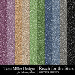 Reach for the Stars Glitter Sheets Pack-$2.99 (Tami Miller)