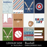 Baseball LJ Journal Card Pack-$2.49 (Lindsay Jane)