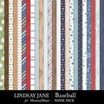 Baseball LJ Paper Pack-$2.99 (Lindsay Jane)