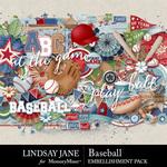 Baseball LJ Embellishment Pack-$3.49 (Lindsay Jane)