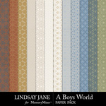 A Boys World Pattern Paper Pack-$2.49 (Lindsay Jane)