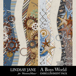 A Boys World Border Pack-$2.49 (Lindsay Jane)