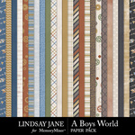 A Boys World Paper Pack-$2.99 (Lindsay Jane)