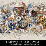 A Boys World Embellishment Pack-$3.49 (Lindsay Jane)