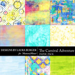 The Carnival Adventure Artsy Paper  Pack-$4.99 (Laura Burger)