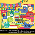 The Carnival Adventure Embellishments 2-$4.99 (Laura Burger)