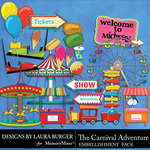 The Carnival Adventure Embellishments 1-$4.99 (Laura Burger)