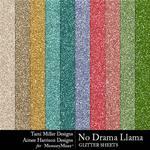 No Drama Llama Glitter Sheets Pack-$4.99 (Tami Miller)
