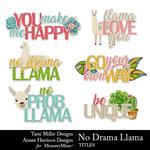 No Drama Llama Titles Pack-$2.99 (Tami Miller)