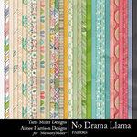 No Drama Llama Paper Pack-$4.99 (Tami Miller)