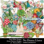 No Drama Llama Embellishment Pack-$4.99 (Tami Miller)