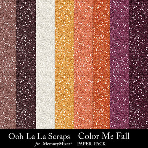 Color me fall glitter papers medium