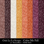 Color me fall glitter papers small