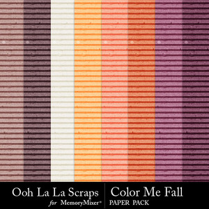 Color me fall cardbord papers medium