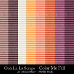 Color Me Fall Cardboard Paper Pack-$2.49 (Ooh La La Scraps)