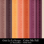 Color Me Fall Pattern Paper Pack-$2.49 (Ooh La La Scraps)