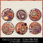 Color Me Fall Cluster Seals Pack-$2.49 (Ooh La La Scraps)
