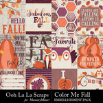 Color Me Fall Pocket Scrap Cards Pack-$2.49 (Ooh La La Scraps)