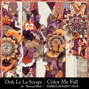 Color me fall page borders medium