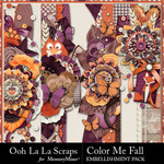 Color Me Fall Page Borders Pack-$2.49 (Ooh La La Scraps)