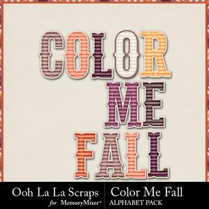 Color me fall alphabets medium