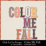 Color Me Fall Alphabet Pack-$3.49 (Ooh La La Scraps)