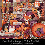 Color Me Fall Combo Pack-$4.99 (Ooh La La Scraps)
