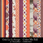 Color me fall kit papers small