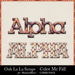 Color me fall kit alphabets small