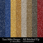 All Stitched Up Glitter Sheets Pack-$2.99 (Tami Miller)
