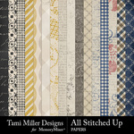All Stitched Up Paper Pack-$4.99 (Tami Miller)
