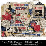 All Stitched Up Embellishment Pack-$4.99 (Tami Miller)
