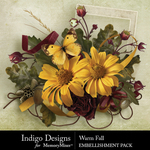 Warm Fall Embellishment Pack-$3.99 (Indigo Designs)