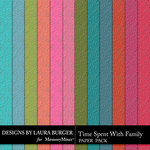 Time Spent With Family Embossed Paper Pack-$3.99 (Laura Burger)