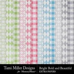 Bright Bold and Beautiful Extra Paper Pack-$2.99 (Tami Miller)