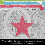 Bright Bold and Beautiful Tattered Pieces Pack-$2.99 (Tami Miller)