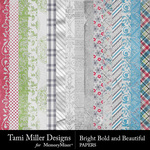 Bright Bold and Beautiful Paper Pack-$4.99 (Tami Miller)