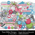 Bright Bold and Beautiful Embellishment Pack-$4.99 (Tami Miller)